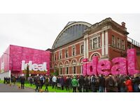 Ideal home show weekend tickets x 2