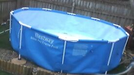 bestway 10ft steel pro frame pool with filter and pool heater