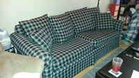 Navy Plaid Hide-a-Bed (Sofabed)