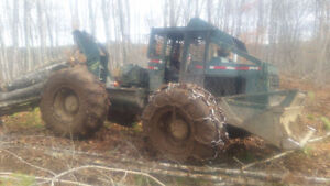 C6D tree farmer cable skidder