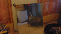 Free 3x3 replacemnt bathroom mirror (unframed) Perfect condition