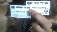2 Xtreme Couture 7 Day Fitness/MMA Guest Pass *$75 VALUE/PASS*