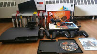 PlayStation 3 500 GB/27 games/PSMove/2 Game pads/Fighting Stick