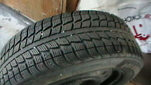 4 -205/60R 16 Studded Tires and Rims