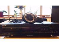 Senheiser headphones HD439 and CD player