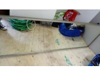 Mirrored sliding door for wardrobe. 66cm x 225cm. Could be removed from frame and used as mirror.
