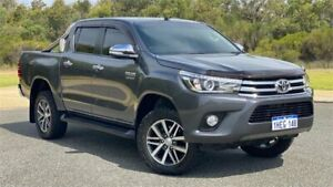 2017 Toyota Hilux GUN126R SR5 (4x4) Grey 6 Speed Automatic Dual Cab Utility Cannington Canning Area Preview