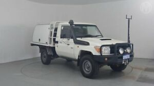 2009 Toyota Landcruiser VDJ79R Workmate French Vanilla 5 Speed Manual Cab Chassis Perth Airport Belmont Area Preview
