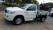 2014 Toyota Hilux KUN26R MY14 SR (4x4) White 5 Speed Automatic Cab Chassis Homebush Strathfield Area Preview
