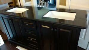 Double vanity with granite counter