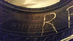 Goodyear Nordic-$300 obo- 15in- Used One Season Cambridge Kitchener Area image 2