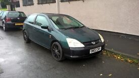 HONDA CIVIC 1.6 i-VTEC SE Sport (green) 2002