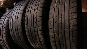 AllSEASON / SUMMER TIRES 185/65/14  (ON RIMS )