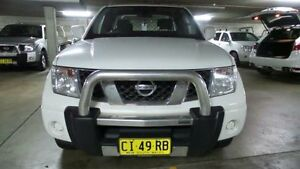 2013 Nissan Navara D40 S6 MY12 ST-X White 5 Speed Automatic 4D CAB CHASSIS Artarmon Willoughby Area Preview