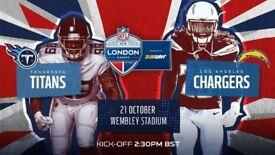2 x NFL Tickets Wembley 21 October. GREAT SEATS.