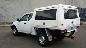 2011 Mitsubishi Triton MN MY11 GLX White 5 Speed Manual Cab Chassis Revesby Bankstown Area Preview
