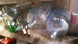 Glass carboys for wine and beer making