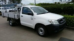 2011 Toyota Hilux TGN16R MY10 Workmate White 4 Speed Automatic Cab Chassis Acacia Ridge Brisbane South West Preview