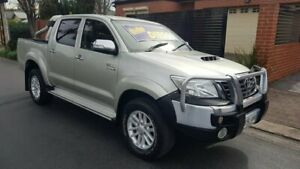2012 Toyota Hilux KUN26R MY12 SR5 Double Cab Platinum Silver 4 Speed Automatic Utility Prospect Prospect Area Preview