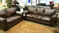 "*CLEARANCE* Brown ""Vintage"" Sofa & Loveseat"