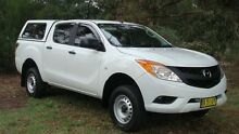 2013 Mazda BT-50 UP0YF1 XT 4x2 Hi-Rider White 6 Speed Sports Automatic Utility Oaks Estate Queanbeyan Area Preview