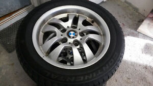 "bmw 4x16"" rims with good winter tires 205 55 16"