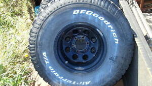 """15x10 chevy 4x4 wheels  with 35"""" tires"""