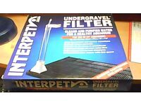 2 x INTERPET UNDERGRAVEL FILTER SYSTEMS FOR FISH TANK AQUARIUM-BRAND NEW IN BOX