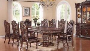7 PC SOLID WOOD DINING ROOM SET $3298