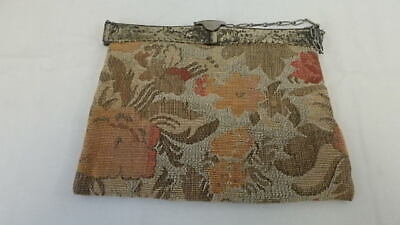 1920s Handbags, Purses, and Shopping Bag Styles Antique 1920's Needlepoint Purse w/ Dutch Embossed Silvertone Square Open Top $44.00 AT vintagedancer.com