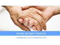 Full Time Care Worker Position - George Springall Homecare