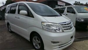 2008 Toyota Alphard ANH15 2008 G SERIES G-Edition White Automatic Mini Bus Greenacre Bankstown Area Preview