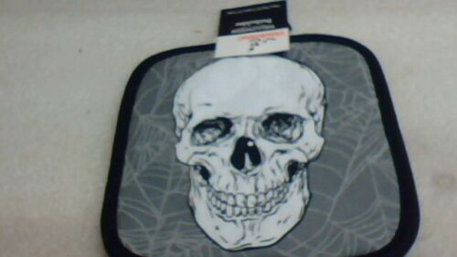 skull pot holder and dish towel new free shipping