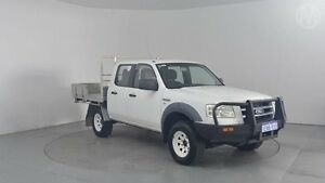 2008 Ford Ranger PJ 07 Upgrade XL (4x4) Cool White 5 Speed Automatic Cab Chassis Perth Airport Belmont Area Preview