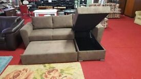 brand new stanford 3 seat chenille fabric sofabed with storage