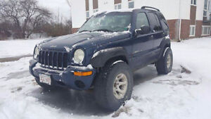 2002 Jeep Liberty SUV with 33s and winter tires/wheels
