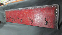 Stunning & Elegant Deep red, black, & silver coat rack
