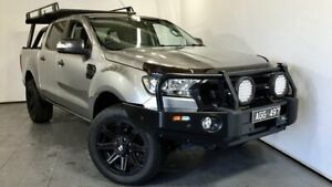 2015 Ford Ranger PX MkII XLT Double Cab Silver 6 Speed Sports Automatic Utility Elizabeth Playford Area Preview