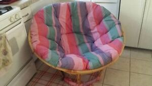 Rattan Papasan chair - very comfortable!