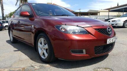 2008 Mazda 3 BK10F2 Maxx Burgundy 5 Speed Manual Sedan Enfield Port Adelaide Area Preview