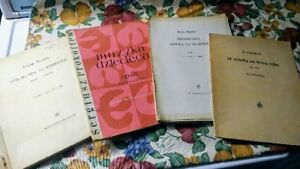 --- LOT OF SHEET MUSIC, PIANO, CLARINET, MANDOLIN ---