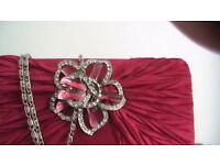 EVENING BAG in red.