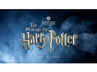 x3 gift tickets for Harry Potter studio tour