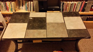 Removable Tile Coffee Table with Iron legs.