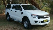 2012 Ford Ranger PX XL Double Cab 4x2 Hi-Rider White 6 Speed Sports Automatic Utility Oaks Estate Queanbeyan Area Preview