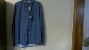 Mans Blue Industry Long Sleeve Dress Shirt.Size 42 [new]