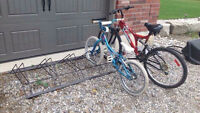 Practical bike racks for lawn,garage and appartments.