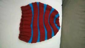 Handmade Colourful winter hats , weft
