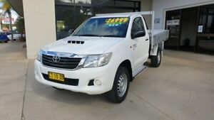 2014 Toyota Hilux KUN26R MY14 SR White 5 Speed Manual Cab Chassis Macksville Nambucca Area Preview