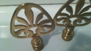 Pair of solid brass Lamp Finials - a beautiful detail!